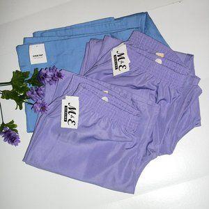 3 Pair Scrubs Pants 2X NWT 2 Purple & 1 Blue